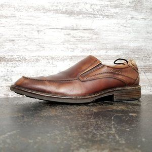Mens Ecco Distressed Loafers Shoes Sz 10 44 M Used